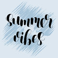 Summer vibes. Lettering illustration.
