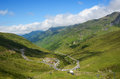 Summer view from the pass of Tourmalet in Pyrenees Royalty Free Stock Photo