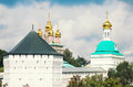 Summer view of the trinity sergius lavra sergiev posad russia unesco world heritage site Stock Images