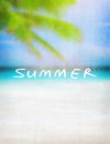 Summer vintage card background Royalty Free Stock Photo