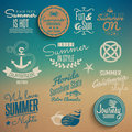 Summer vintage elements retro style illustration Stock Photo