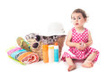 Summer voyage with children accessories for vocations and toddler girl Stock Photo