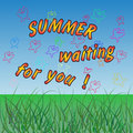 Summer waiting for you vector colored background eps Royalty Free Stock Photos