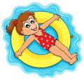 Summer water activity theme eps vector illustration Royalty Free Stock Photography