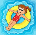 Summer water activity theme eps vector illustration Royalty Free Stock Photo