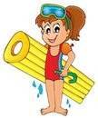 Summer water activity theme eps vector illustration Stock Photo