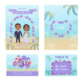 Summer Wedding Invitation Cars