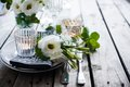 Summer wedding table decoration Royalty Free Stock Photo