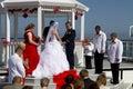 Summer Weddings Aboard Ship Royalty Free Stock Photo