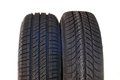 Summer and winter car tires brand new modern Royalty Free Stock Photo