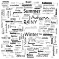 summer winter monsoon word cloud, word cloud use for banner, painting, motivation, web-page, website background, t-shirt & shirt