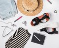 Summer woman`s trendy outfit Royalty Free Stock Photo