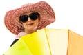 Summer woman umbrella Royalty Free Stock Photo