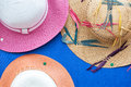 Summer womens hats Royalty Free Stock Photo