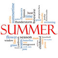 Summer Word Cloud Concept Royalty Free Stock Image
