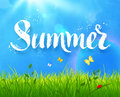 Summer word lettering Royalty Free Stock Photo