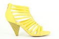 Summer yellow shoe Royalty Free Stock Photo