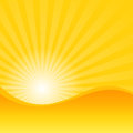Summer yellow with sun shine ray background () Royalty Free Stock Photo