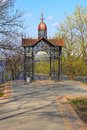 Summerhouse famous summer house at the park of vladimir in kiev Royalty Free Stock Images