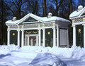 Summerhouse in winter Peterhof Stock Image