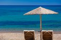 Summertime at the beach greece rhodes Royalty Free Stock Photography