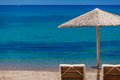 Summertime at the beach greece rhodes Royalty Free Stock Image