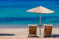 Summertime at the beach greece rhodes Stock Photography
