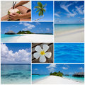 Summertime collage. Stock Photo