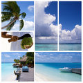 Summertime collage. Royalty Free Stock Photos