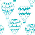 Summertime concept seamless pattern in doodle style. Royalty Free Stock Photo