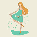 Summertime girl cute vector illustration Royalty Free Stock Images