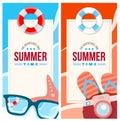 Summertime invite card concept