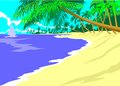 Summertime in the island conceptual illustration on holiday a heavenly landscape on an summer Royalty Free Stock Photos