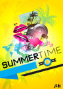 SummerTime Party Poster Royalty Free Stock Image