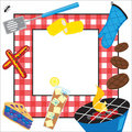 Summertime Picnic Party Invitation Stock Photo