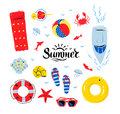 Summertime top view illustrations set