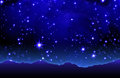 Summery starry sky abstrakt background Stock Photography