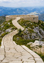 Summit of the kings lovćen national park mausoleum njegoš meeting point Stock Image