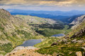 Summit lakes lake area of the mount evans highway near denver colorad Stock Image