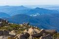 Summit of Mount Wellington overlooking foothills around Hobart Royalty Free Stock Photo