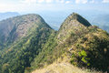 Summit of mountain northern to in thailand Royalty Free Stock Images