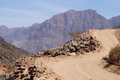 Summit road mountain to in hajar mountains oman Stock Photography