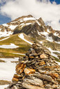 Summits in the alps tops of mountains french Royalty Free Stock Photos