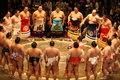 Sumo in japan it was the beginning shows of the games Stock Photo