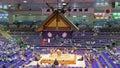 Sumo tournament in nagoya wrestlers aichi prefectural gymnasium japan Royalty Free Stock Image
