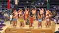 Sumo tournament in nagoya wrestlers presentation japan Stock Image