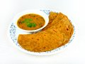 Sumptuous Chapatti and Dal meal Royalty Free Stock Photos