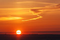Sun above the horizon Royalty Free Stock Photo
