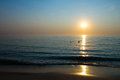 Sun above sea horizon Stock Photos