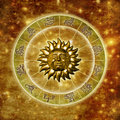Sun astrology Royalty Free Stock Images